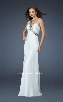 Picture of: Sweetheart Neckline Prom Dress with Multi Colored Stones in White, Style: 18673, Main Picture