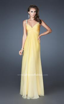 Picture of: Long Ombre Prom Dress with Sweetheart Neckline in Yellow, Style: 18732, Main Picture