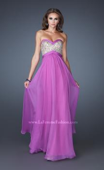 Picture of: Pleated Chiffon Prom Dress with Sequined Bodice, Style: 18733, Main Picture