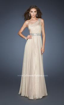 Picture of: A-line Sequined Prom Dress with Rhinestone Waist Detail, Style: 18747, Main Picture