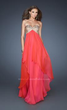 Picture of: Flirty Prom Dress with Sequins and Rhinestone Detail in Orange, Style: 18774, Main Picture