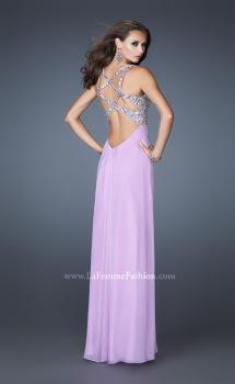 Picture of: Chiffon Prom Dress with Cut Out Back and Beading, Style: 18841, Main Picture