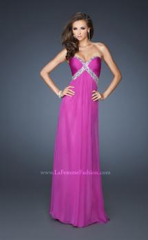Picture of: Sweetheart Neckline Prom Dress with Beaded Empire Waist in Pink, Style: 18843, Main Picture