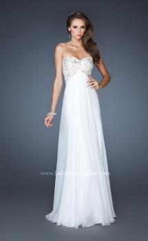 Picture of: Flowy Chiffon Prom Dress with Beaded Lace Bodice, Style: 18847, Main Picture