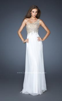Picture of: One Shoulder Long Chiffon Dress with Embellished Bodice, Style: 18868, Main Picture