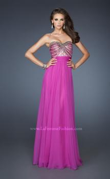 Picture of: Long Chiffon Prom Dress with Embellished Bodice, Style: 18897, Main Picture