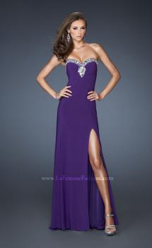 Picture of: Strapless Jersey Prom Dress with Embellished Trim, Style: 18916, Main Picture