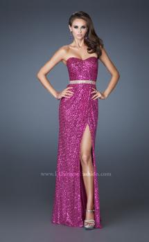 Picture of: Strapless Long Sequin Prom Dress with Embellished Belt, Style: 18918, Main Picture