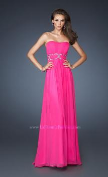 Picture of: Strapless Long Chiffon Prom Dress with Bedazzled Waist, Style: 18953, Main Picture