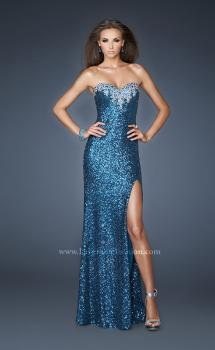 Picture of: Long Fitted Strapless Sequin Prom Dress, Style: 18982, Main Picture