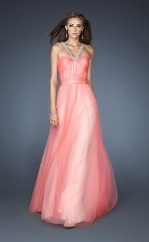 Picture of: Long A-line Chiffon Prom Dress with Beaded Halter, Style: 18983, Main Picture