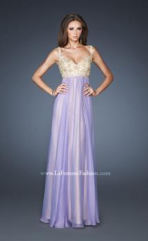 Picture of: Long Chiffon Prom Dress with Embellished Bodice, Style: 18990, Main Picture