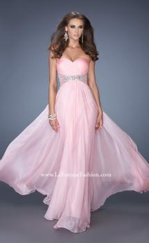 Picture of: Strapless Long Chiffon Prom Dress with Embellished Waist, Style: 19123, Main Picture