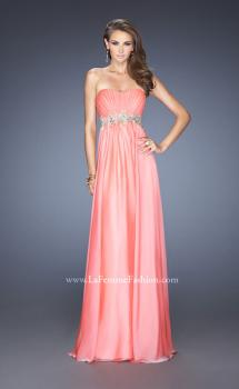 Picture of: Strapless Long A-line Prom Dress with Embellished Belt, Style: 19130, Main Picture
