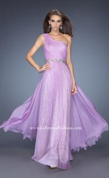Picture of: One Shoulder Long Sequin Prom Dress with Chiffon Overlay, Style: 19280, Main Picture