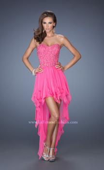 Picture of: High Low Strapless Prom Dress with Embellished Bodice, Style: 19359, Main Picture