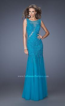 Picture of: Long Mermaid Prom Dress with Lace Applique, Style: 19420, Main Picture