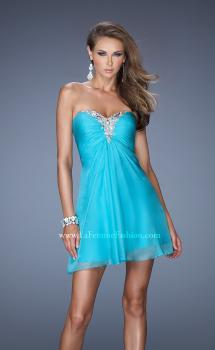 Picture of: Strapless Short Prom Dress with Embellishment on Bodice, Style: 19431, Main Picture