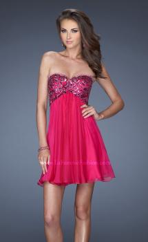 Picture of: Strapless Short Dress with Sequin Lace Bodice, Style: 19477, Main Picture
