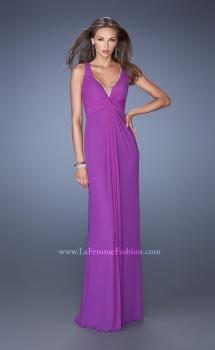 Picture of: Long Jersey Prom Gown with Embellished Illusion Neckline, Style: 19531, Main Picture