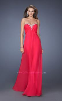 Picture of: Strapless Chiffon Prom Dress Pleated Bodice, Style: 19566, Main Picture