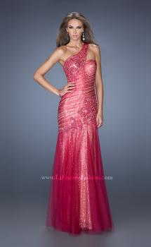 Picture of: One Shoulder Long Prom Dress with Fitted Ruching, Style: 19586, Main Picture