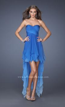Picture of: High Low Ombre Prom Dress with Bejeweled Trim in Blue, Style: 19634, Main Picture