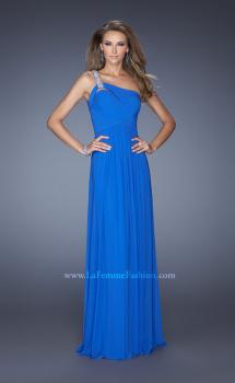 Picture of: One Shoulder Jersey Prom Dress with Embellished Straps, Style: 19639, Main Picture
