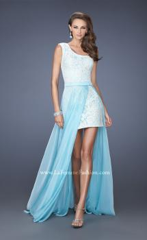 Picture of: One Shoulder Prom Dress with Detachable Skirt in Blue, Style: 19700, Main Picture