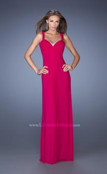 Picture of: Jersey Prom Dress with Pleated Bodice and Sparkling Trim, Style: 19704, Main Picture