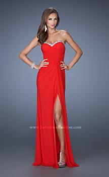 Picture of: Long Jersey Prom Gown with Flattering Ruched Bodice, Style: 19710, Main Picture