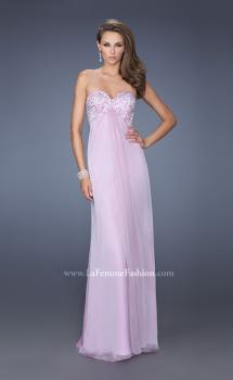 Picture of: Long Strapless Chiffon Prom Dress with Embellished Bodice in Purple, Style: 19740, Main Picture
