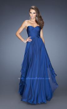 Picture of: Long Chiffon Strapless Prom Gown with a Tiered Skirt, Style: 19741, Main Picture