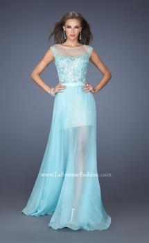 Picture of: Fitted Long Prom Dress with Detachable Chiffon Skirt , Style: 19746, Main Picture