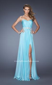 Picture of: Sweetheart Strapless Chiffon Prom Gown with Beaded Belt, Style: 19760, Main Picture