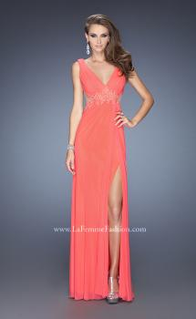 Picture of: Sleeveless Prom Gown with Beaded Lace Accents, Style: 19804, Main Picture