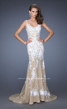 Picture of: Mermaid Style Prom Dress with Thin Straps and Train, Style: 19835, Main Picture