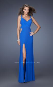 Picture of: Jersey Prom Gown with Side Slit and Ruched Bodice, Style: 19843, Main Picture