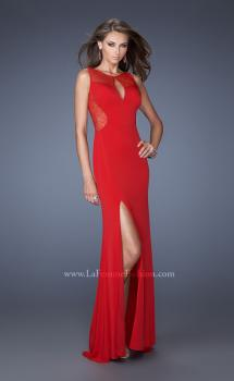 Picture of: Fitted Jersey Dress with High Neckline and Side Slit, Style: 19847, Main Picture
