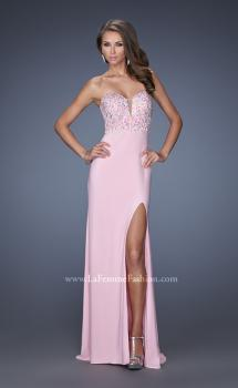Picture of: Strapless Jersey Prom Dress with Low V Back, Style: 19869, Main Picture