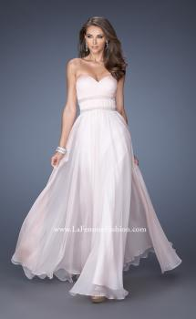 Picture of: Long Strapless Prom Dress with Rhinestone Belts in Pink, Style: 19875, Main Picture