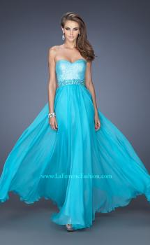 Picture of: Sweetheart Neckline Prom Gown with Sequins and Pearls in Blue, Style: 19898, Main Picture