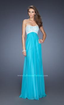 Picture of: Strapless Empire Waist Prom Dress with Pearl Lining, Style: 19902, Main Picture