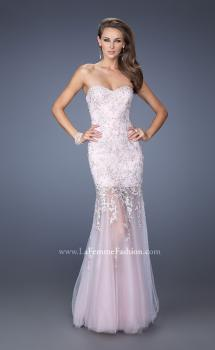 Picture of: Mermaid Style Prom Gown with Sheer Layered Tulle Skirt, Style: 19923, Main Picture