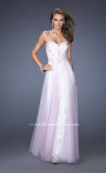 Picture of: Strapless Sweetheart Prom Dress with Lice Lining and Tulle in Pink, Style: 19967, Main Picture