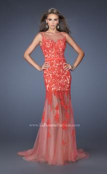 Picture of: Mermaid Style Prom Dress with Boat Neck and Lace, Style: 19991, Main Picture
