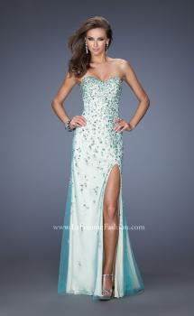 Picture of: Fully Beaded Gown with Sweetheart Neckline in Green, Style: 20017, Main Picture