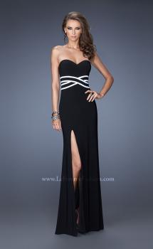 Picture of: Simple Jersey Prom Dress with Thigh High Slit, Style: 20030, Main Picture