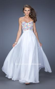 Picture of: Strapless Prom Gown with Lace Bodice and Chiffon Skirt, Style: 20036, Main Picture