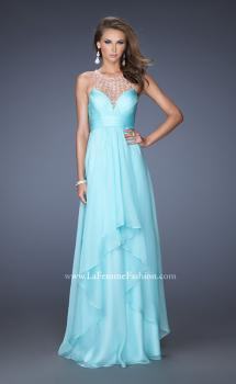 Picture of: Sweetheart Chiffon Gown with Tiered Layer Skirt, Style: 20060, Main Picture